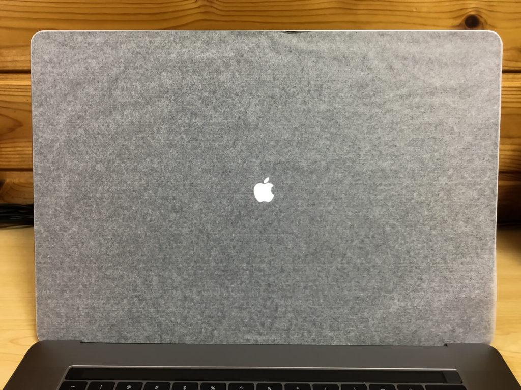 電源が入ったMacBook Pro