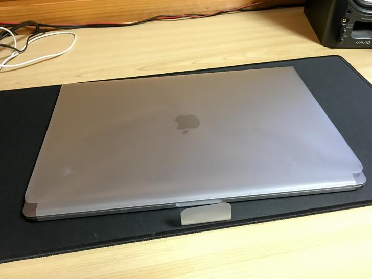 フィルムに包んだMacBookPro
