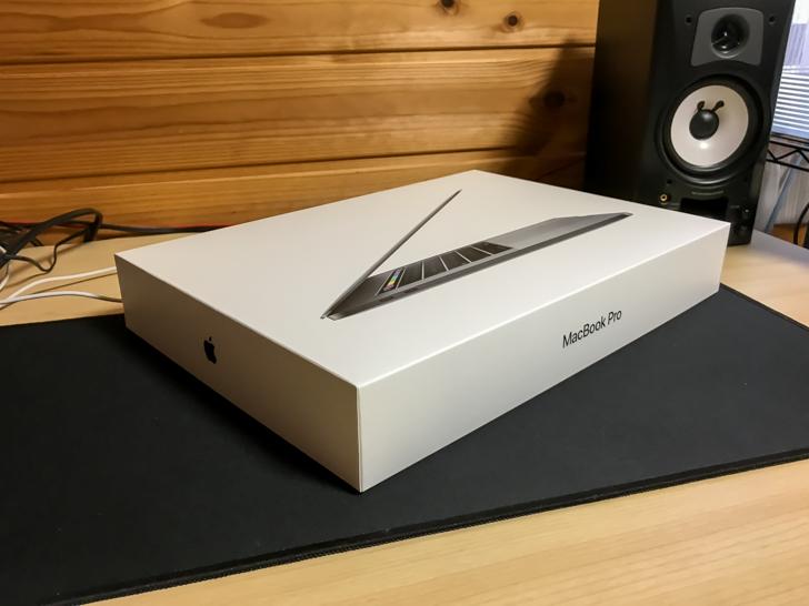 梱包されたMacBookPro