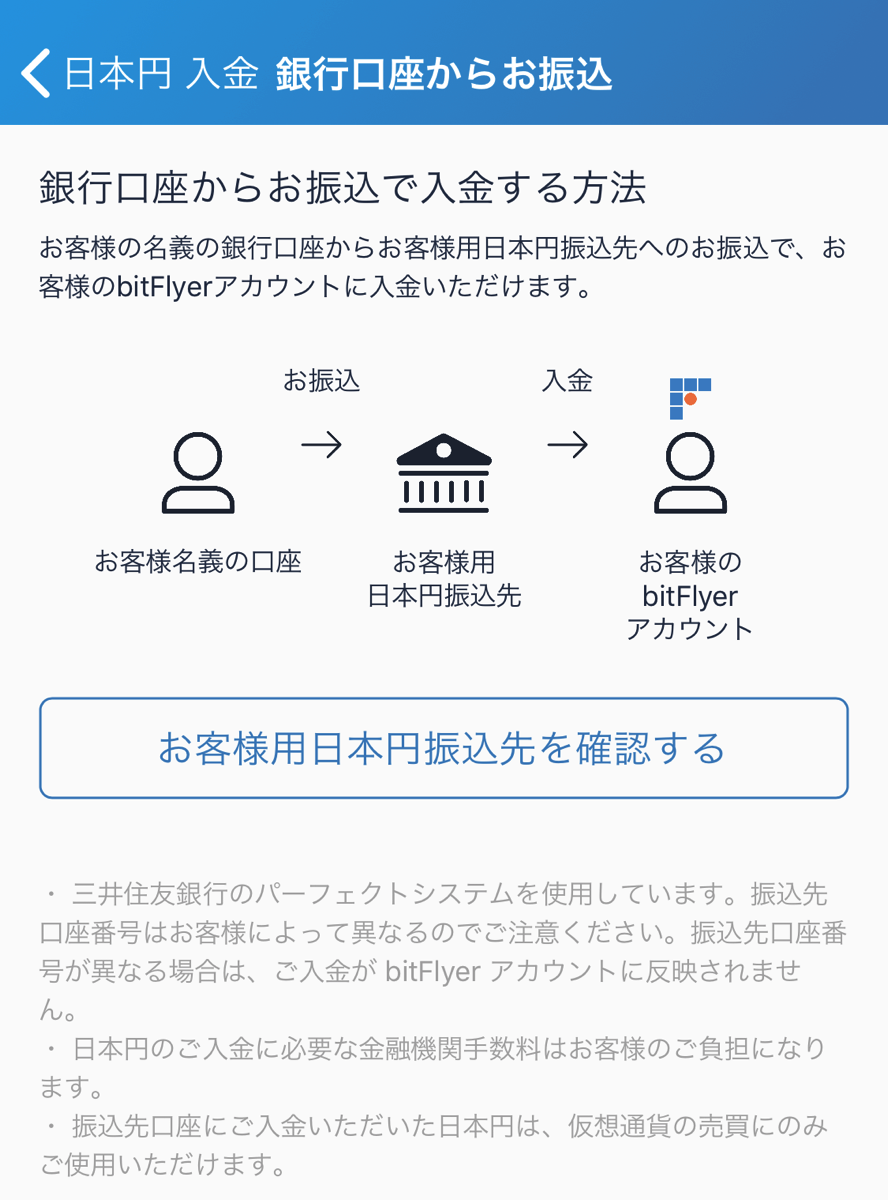 Failed to deposit to bitFlyer3