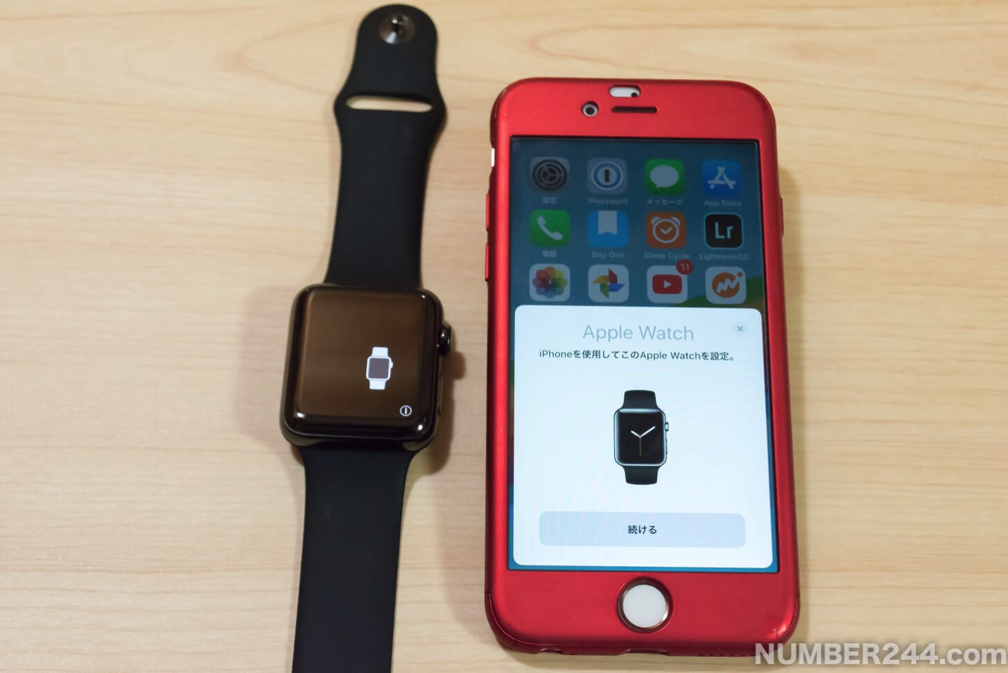 Initial setting of Apple Watch 2